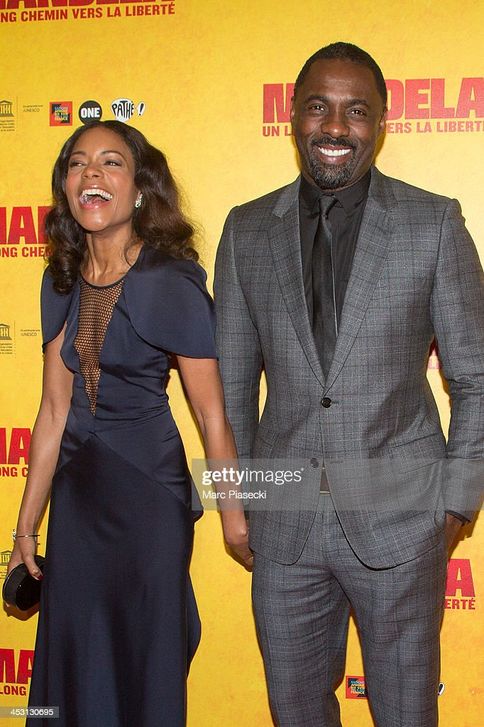 Actors <a gi-track='captionPersonalityLinkClicked' href=/galleries/search?phrase=Naomie+Harris&family=editorial&specificpeople=238918 ng-click='$event.stopPropagation()'>Naomie Harris</a> and <a gi-track='captionPersonalityLinkClicked' href=/galleries/search?phrase=Idris+Elba&family=editorial&specificpeople=215443 ng-click='$event.stopPropagation()'>Idris Elba</a> attend the 'Mandela: Long Walk to Freedom' Paris premiere at UNESCO on December 2, 2013 in Paris, France.