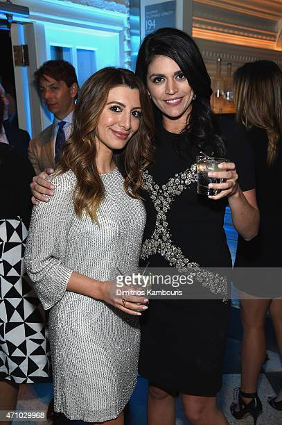 Actors Nasim Pedrad and Cecily Strong attend The New Yorker's White House Correspondents' Dinner Weekend PreParty hosted by David Remnick at the W...