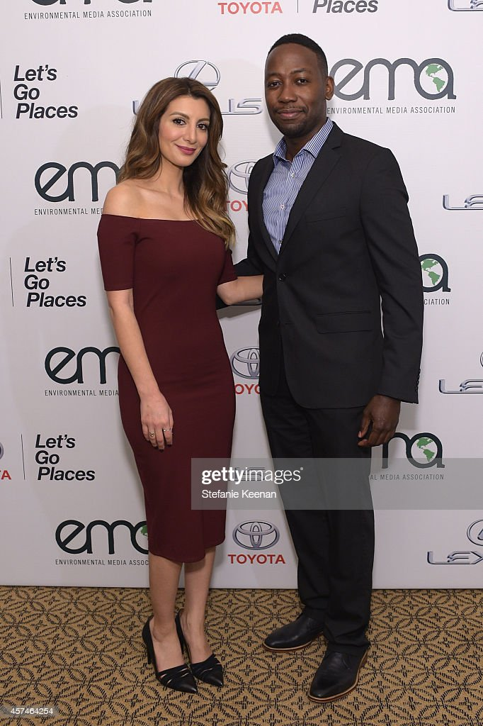 Actors Nasim Pedrad and Lamorne Morris attend the 24th Annual Environmental Media Awards presented by Toyota and Lexus at Warner Bros Studio on...