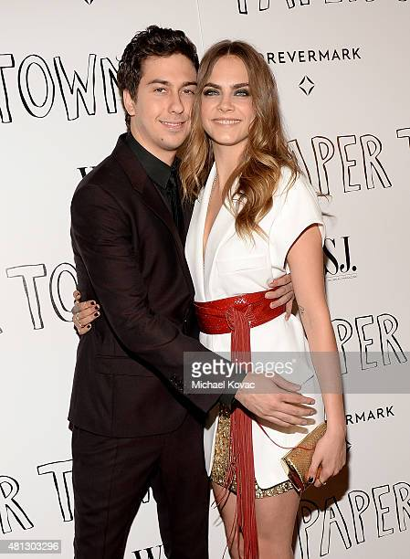 Actors Nat Wolff and Cara Delevingne attend WSJ Magazine And Forevermark Host A Special Los Angeles Screening Of 'Paper Towns' at The London West...