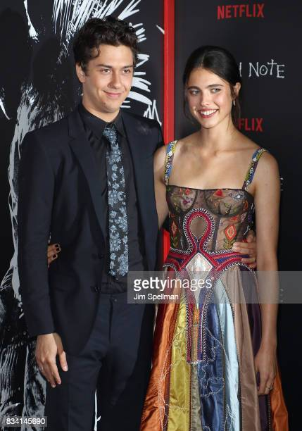 Actors Nat Wolff and Margaret Qualley attend the 'Death Note' New York premiere at AMC Loews Lincoln Square 13 theater on August 17 2017 in New York...