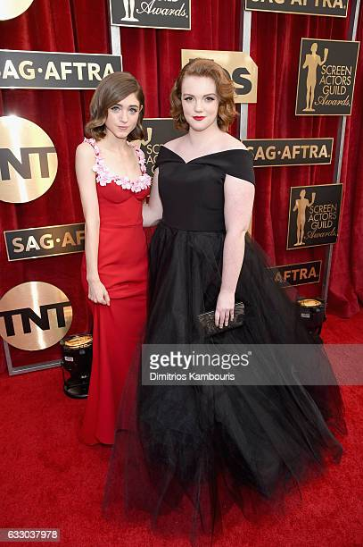 Actors Natalia Dyer and Shannon Purser attend The 23rd Annual Screen Actors Guild Awards at The Shrine Auditorium on January 29 2017 in Los Angeles...