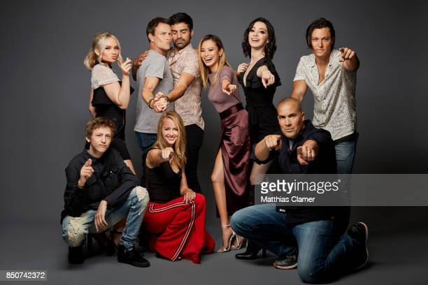 Actors Natalie Alyn Lind Stephen Moyer Sea Teale Jamie Chung Emma Dumont Blair Redford Coby Bell Amy Acker and Percy Hynes White from The Gifted are...