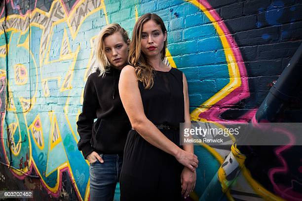 Actors Natalie Krill and Erika Linder star in the film Below Her Mouth which is premiering at the 2016 Toronto International Film Festival