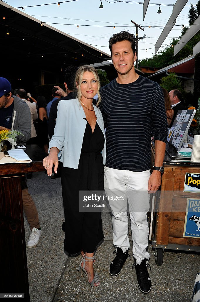 Actors Natalie Zea and Hayes MacArthur attend the TCA Turner Summer Press Tour Dinner at SmogShoppe on July 31st 2016 in Los Angeles California...