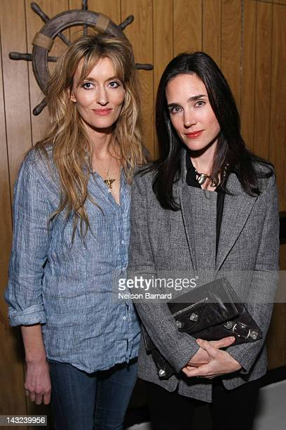 Actors Natascha McElhone and Jennifer Connelly attend the Tribeca Film Festival 2012 AfterParty for 'Whole Lotta Sole' at Anchor Bar on April 22 2012...