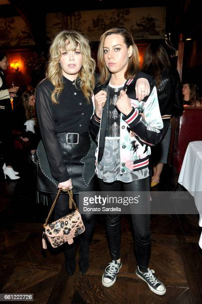 Actors Natasha Lyonne and Aubrey Plaza attend the Coach Rodarte celebration for their Spring 2017 Collaboration at Musso Frank on March 30 2017 in...