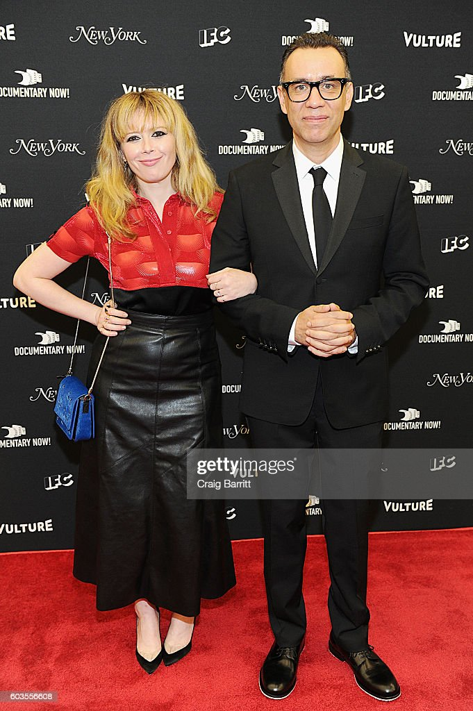 Actors Natasha Lyonne (L) and Fred Armisen attend as IFC, New York Magazine and Vulture host the premiere of 'Documentary Now' at the New Museum on September 12, 2016 in New York City.