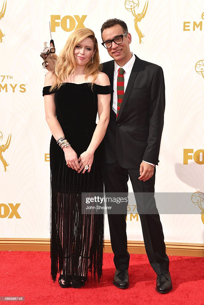 Actors Natasha Lyonne and Fred Armisen attend the 67th Annual Primetime Emmy Awards at Microsoft Theater on September 20 2015 in Los Angeles...