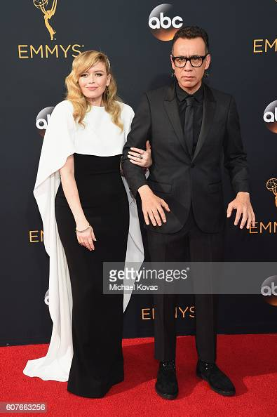 Actors Natasha Lyonne and Fred Armisen attend the 68th Annual Primetime Emmy Awards at Microsoft Theater on September 18 2016 in Los Angeles...