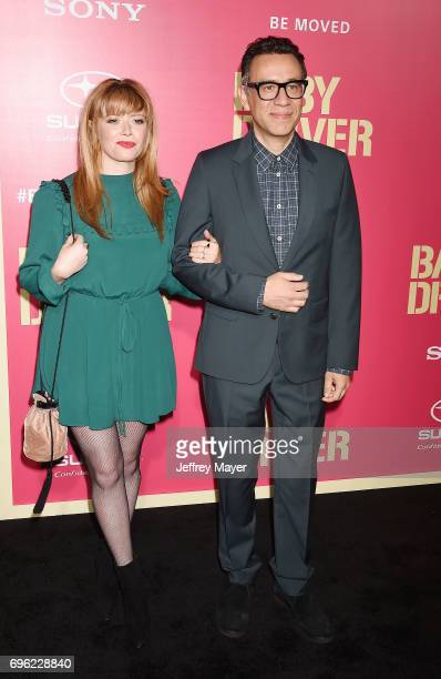 Actors Natasha Lyonne and Fred Armisen attend the premiere of Sony Pictures' 'Baby Driver' at Ace Hotel on June 14 2017 in Los Angeles California