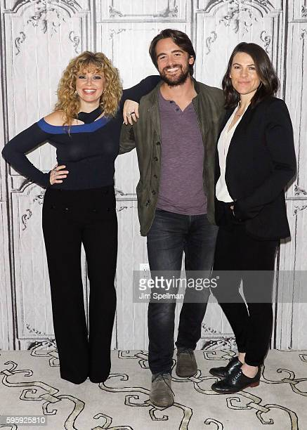 Actors Natasha Lyonne Vincent Piazza and director Clea DuVall attend the AOL Build Presents Clea DuVall Vincent Piazza Natasha Lyonne discussing...