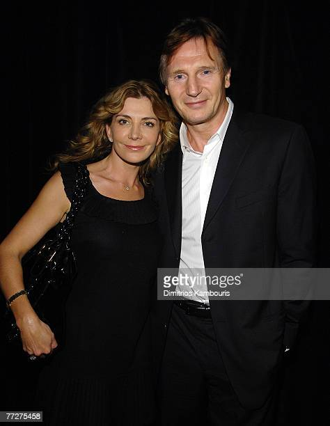 Actors Natasha Richardson and Liam Neeson arrive during the Conde Nast Traveler celebration of 20 years of Truth in Travel at Cooper Hewitt National...