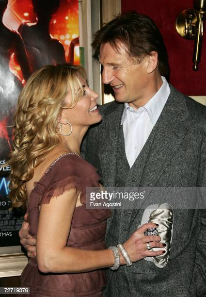 Actors Natasha Richardson and Liam Neeson attend the 'Dreamgirls' premiere presented by DreamWorks Pictures Paramount Pictures at the Ziegfeld...