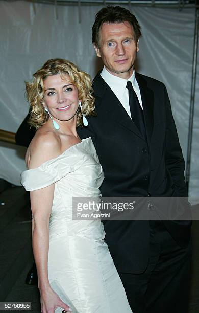 Actors Natasha Richardson and Liam Neeson attends the MET Costume Institute Gala Celebrating Chanel at the Metropolitan Museum of Art May 2 2005 In...