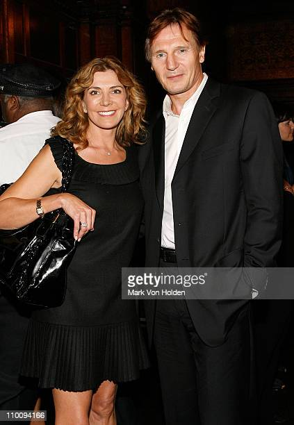 Actors Natasha Richardson and Liam Neeson during the Conde Nast Traveler celebration of 20 Years of Truth in Travel at Cooper Hewitt National Design...