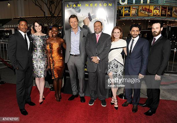Actors Nate Parker Michelle Dockery Lupita Nyong'o and Liam Neeson producer Joel Silver actress Julianne Moore director Jaume ColletSerra and actor...