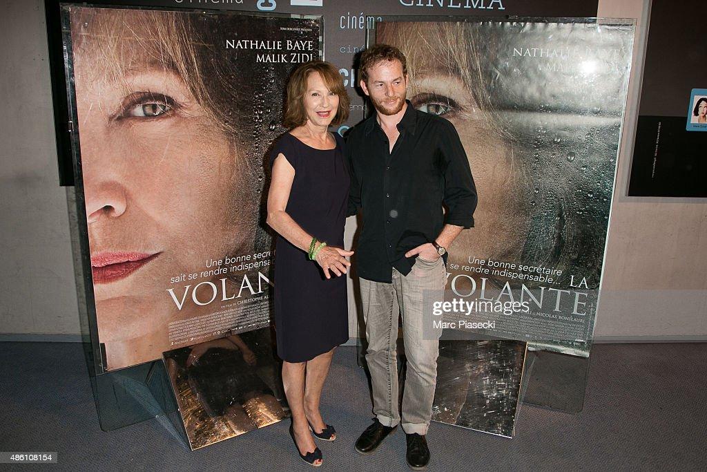 Actors Nathalie Baye and Malik Zidi attend the 'La Volante' Premiere at Ugc Cine Cite La Defense on August 31 2015 in ParisLa Defense France