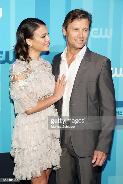 Actors Nathalie Kelley and Grant Show attend the 2017 CW Upfront on May 18 2017 in New York City
