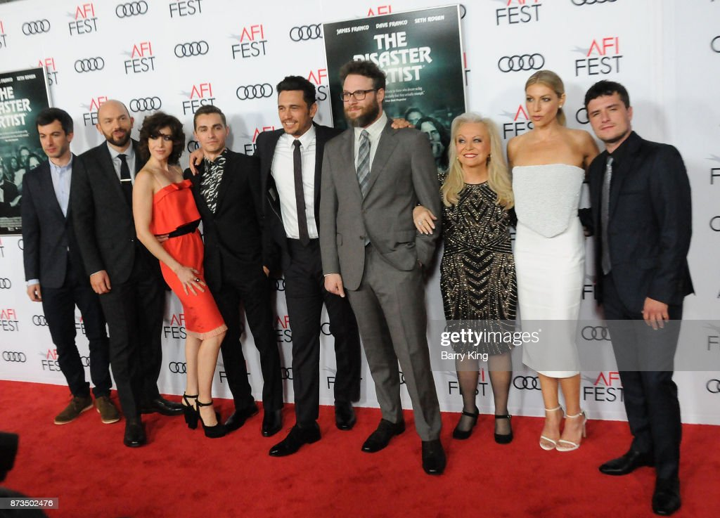 Actors Nathan Fielder, Paul Scheer, Alison Brie, Dave Franco, director/actor James Franco, actors Seth Rogen, Jacki Weaver, Ari Graynor and Josh Hutcherson attend AFI FEST 2017 Presented By Audi - Screening Of 'The Disaster Artist' at TCL Chinese Theatre on November 12, 2017 in Hollywood, California.