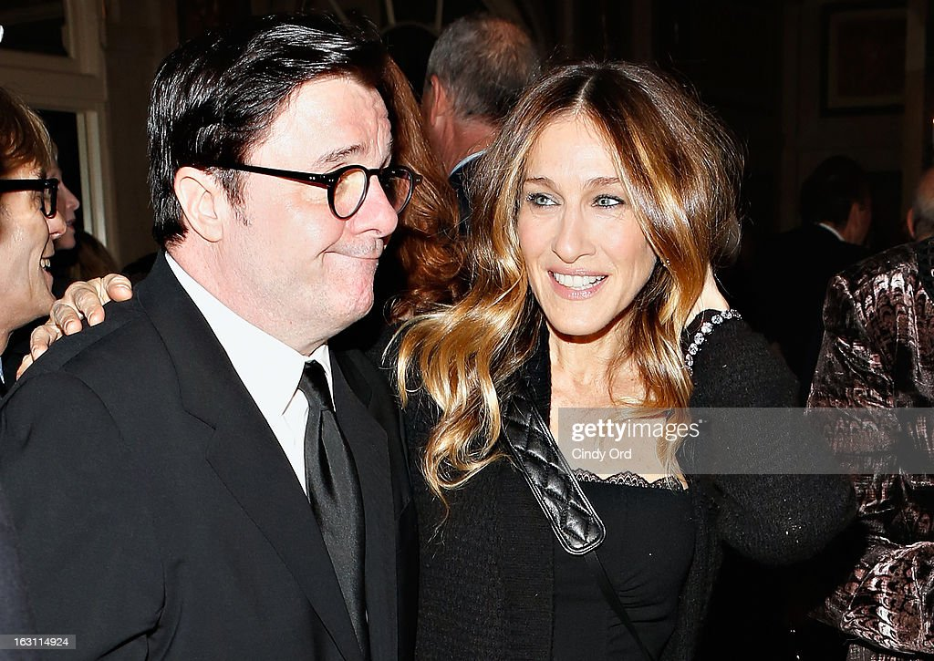 Actors Nathan Lane and Sarah Jessica Parker attend the Guild Hall: Academy Of The Arts Lifetime Achievement Awards at The Plaza Hotel on March 4, 2013 in New York City.