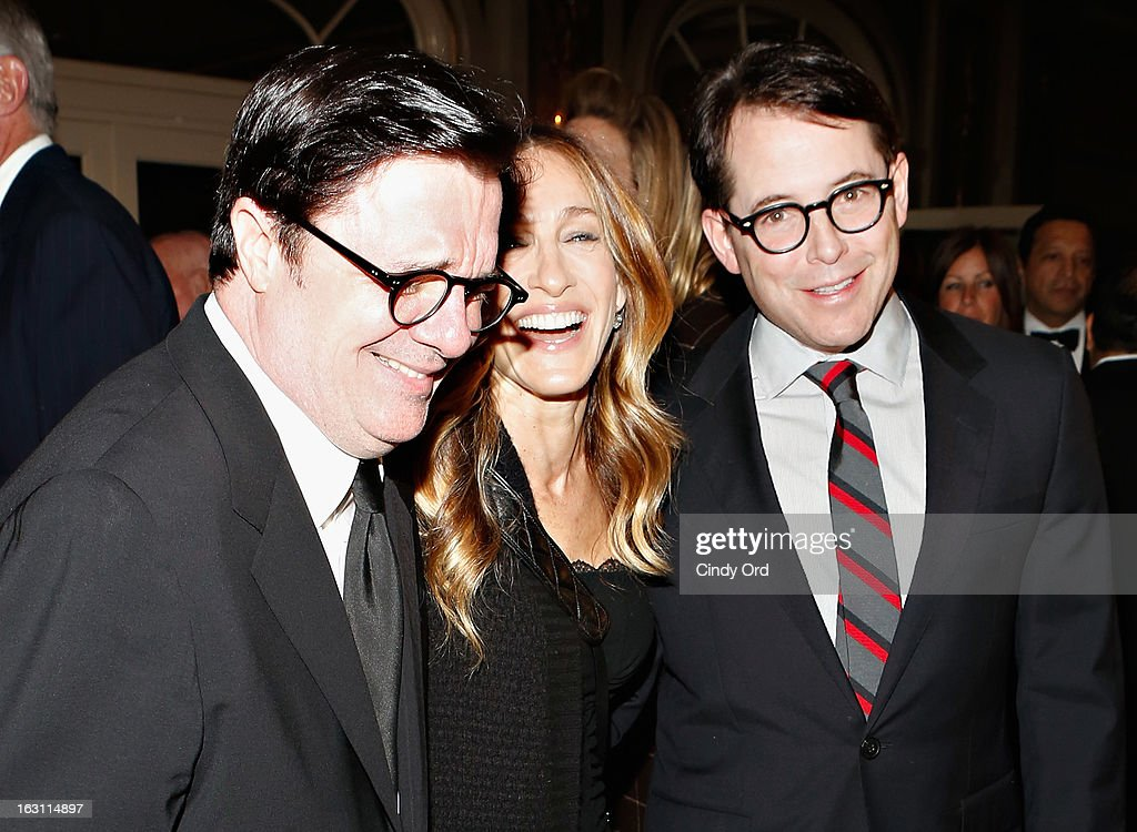 Actors Nathan Lane, Sarah Jessica Parker and Matthew Broderick attend the Guild Hall: Academy Of The Arts Lifetime Achievement Awards at The Plaza Hotel on March 4, 2013 in New York City.