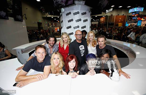 Actors Nathan Parsons Kristin Bauer van Straten Chris Bauer Nelsan Ellis Deborah Ann Woll Sam Trammell and Stephen Moyer Anna Camp Carrie Preston...