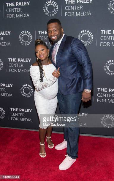 Actors Naturi Naughton and Curtis '50 Cent' Jackson attend An Evening With The Cast And Creative Team Of 'Power' at The Paley Center for Media on...