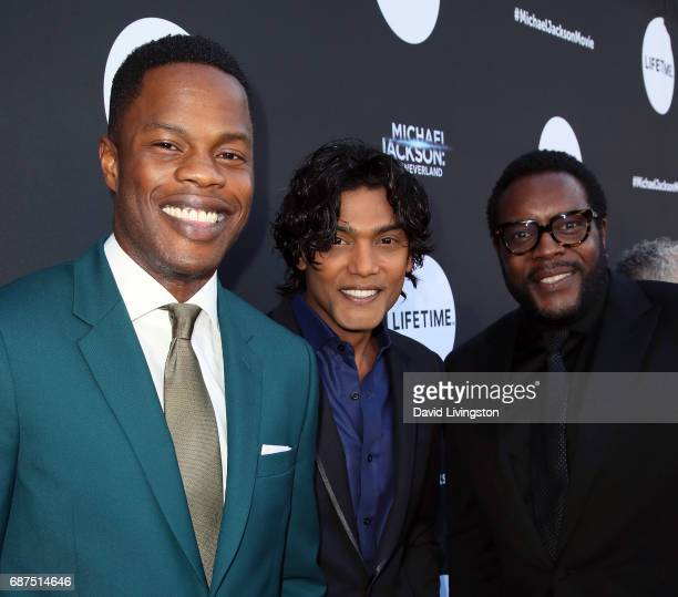 Actors Navi Sam Adegoke and Chad L Coleman attend a fan gala and advance screening for 'Michael Jackson Searching for Neverland' hosted by Lifetime...