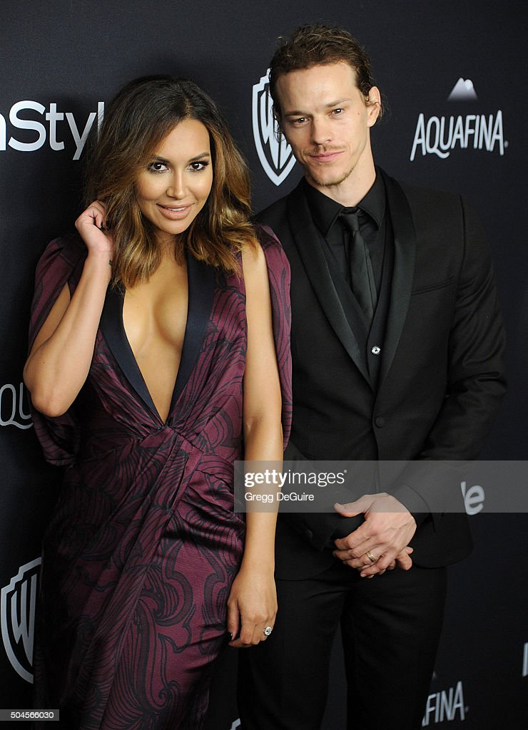 Actors Naya Rivera and husband Ryan Dorsey arrive at the 2016 InStyle And Warner Bros. 73rd Annual Golden Globe Awards Post-Party at The Beverly Hilton Hotel on January 10, 2016 in Beverly Hills, California.