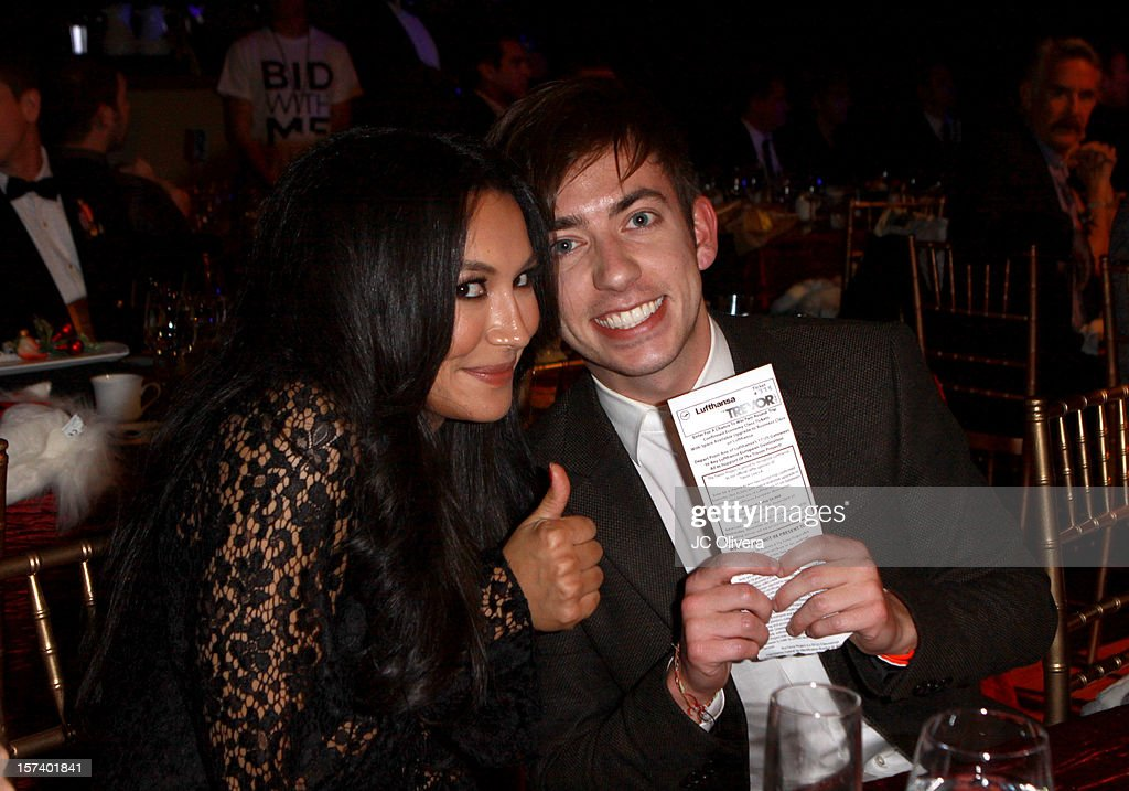 Actors <a gi-track='captionPersonalityLinkClicked' href=/galleries/search?phrase=Naya+Rivera&family=editorial&specificpeople=5745696 ng-click='$event.stopPropagation()'>Naya Rivera</a> (L) and Kevin McHale attend 'Trevor Live' honoring Katy Perry and Audi of America for The Trevor Project held at The Hollywood Palladium on December 2, 2012 in Los Angeles, California.