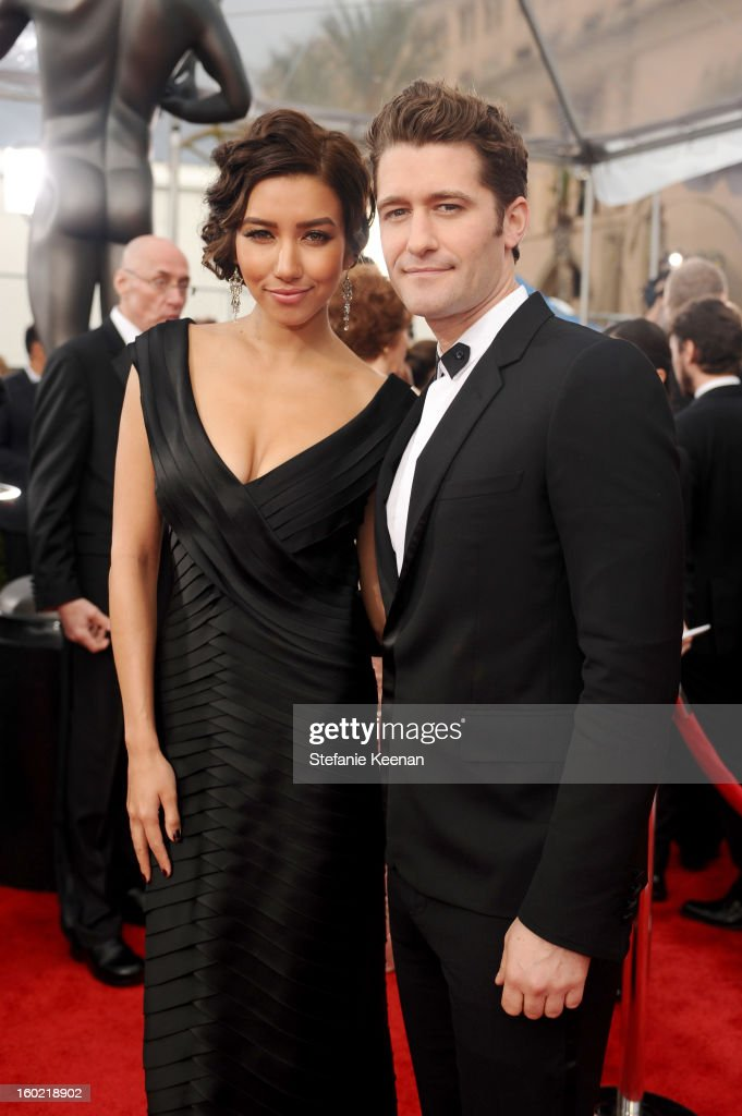 Actors Naya Rivera (L) and Matthew Morrison attend the 19th Annual Screen Actors Guild Awards at The Shrine Auditorium on January 27, 2013 in Los Angeles, California. (Photo by Stefanie Keenan/WireImage) 23116_025_0968.JPG