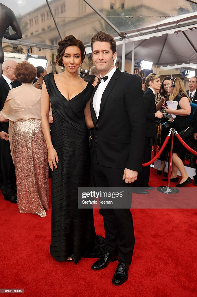 Actors Naya Rivera (L) and Matthew Morrison attend the 19th Annual Screen Actors Guild Awards at The Shrine Auditorium on January 27, 2013 in Los Angeles, California. (Photo by Stefanie Keenan/WireImage) 23116_025_0966.JPG