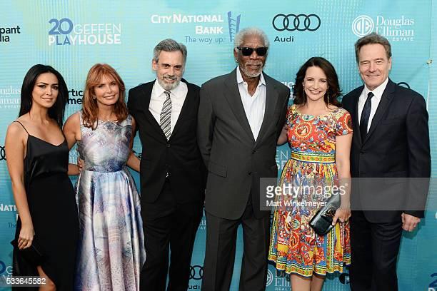 Actors Nazanin Boniadi Roma Downey Geffen Playhouse Artistic Director Randall Arney and actors Morgan Freeman Kristen Davis and Bryan Cranston attend...