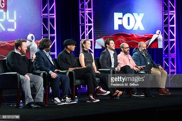 Actors Neil Casey John Gemberling Yassir Lester Leighton Meester and Adam Pally Creator/Executive producer Julius Sharpe and Executive producer Seth...