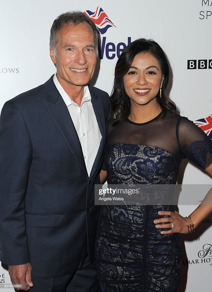 Actors Neil Dickson (L) and Karen David attend BritWeek's 10th Anniversary VIP Reception & Gala at Fairmont Hotel on May 1, 2016 in Los Angeles, California.
