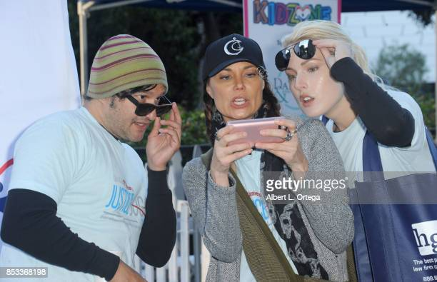 Actors Neil D'Monte Jon Mack and Hollin Haley participate in the 10th Annual Justice Jog 5/10K Run Walk Hosted By GLAALA held on September 24 2017 in...