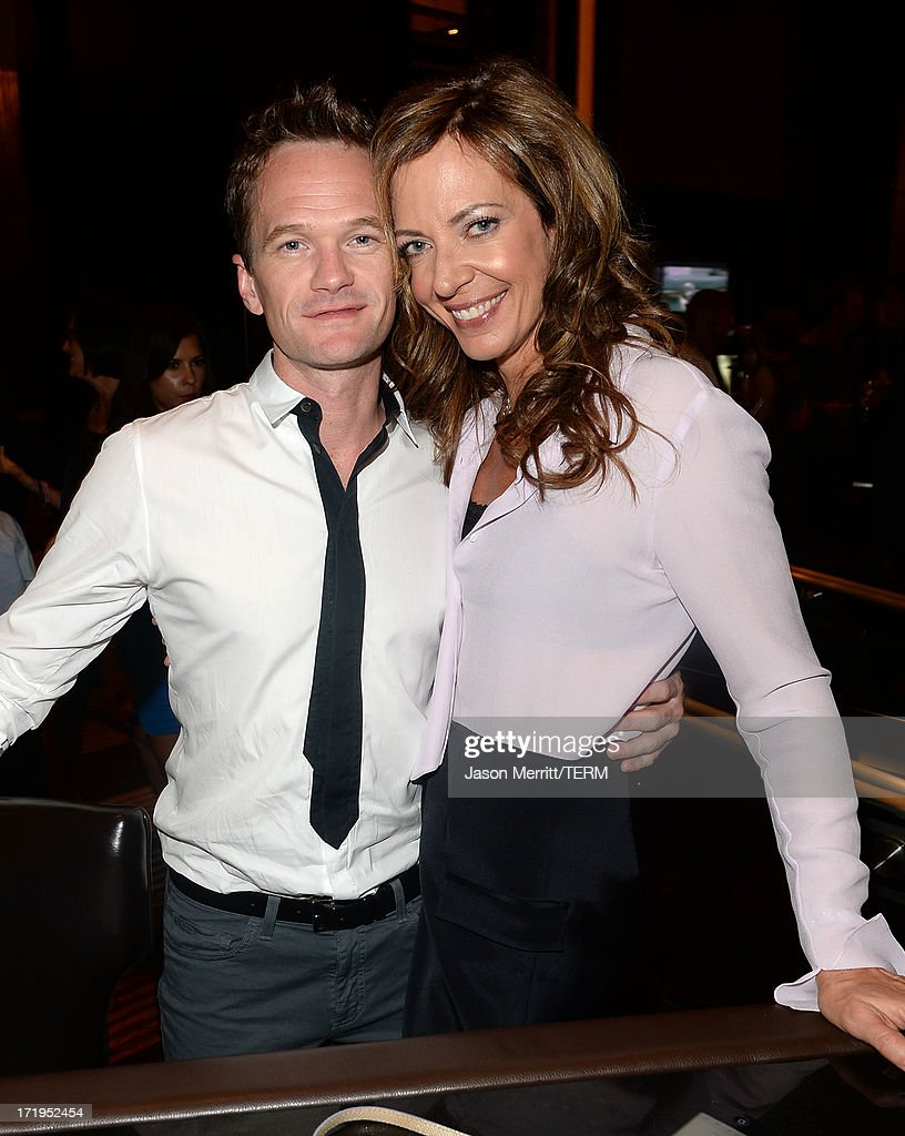 Actors <a gi-track='captionPersonalityLinkClicked' href=/galleries/search?phrase=Neil+Patrick+Harris&family=editorial&specificpeople=210509 ng-click='$event.stopPropagation()'>Neil Patrick Harris</a> and <a gi-track='captionPersonalityLinkClicked' href=/galleries/search?phrase=Allison+Janney&family=editorial&specificpeople=206290 ng-click='$event.stopPropagation()'>Allison Janney</a> attend a reception for the world premiere of 'Michael Jackson ONE by Cirque du Soleil' at THEhotel at Mandalay Bay on June 29, 2013 in Las Vegas, Nevada.