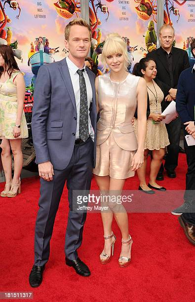 Actors Neil Patrick Harris and Anna Faris arrive at the Los Angeles premiere of 'Cloudy With A Chance Of Meatballs 2' at the Regency Village Theatre...