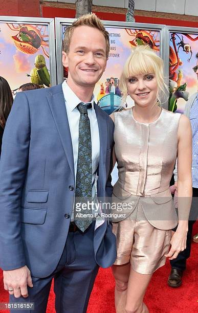 Actors Neil Patrick Harris and Anna Faris arrive to the premiere of Columbia Pictures and Sony Pictures Animation's 'Cloudy With A Chance of...