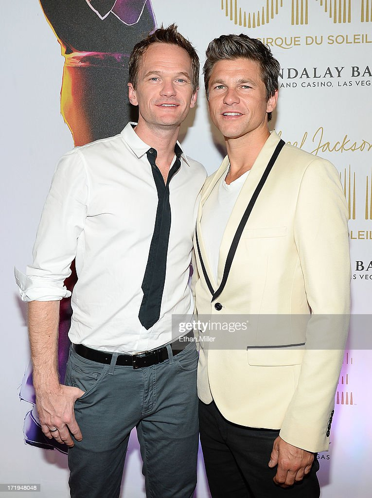Actors <a gi-track='captionPersonalityLinkClicked' href=/galleries/search?phrase=Neil+Patrick+Harris&family=editorial&specificpeople=210509 ng-click='$event.stopPropagation()'>Neil Patrick Harris</a> (L) and <a gi-track='captionPersonalityLinkClicked' href=/galleries/search?phrase=David+Burtka&family=editorial&specificpeople=572242 ng-click='$event.stopPropagation()'>David Burtka</a> arrive at the world premiere of 'Michael Jackson ONE by Cirque du Soleil' at THEhotel at Mandalay Bay on June 29, 2013 in Las Vegas, Nevada.