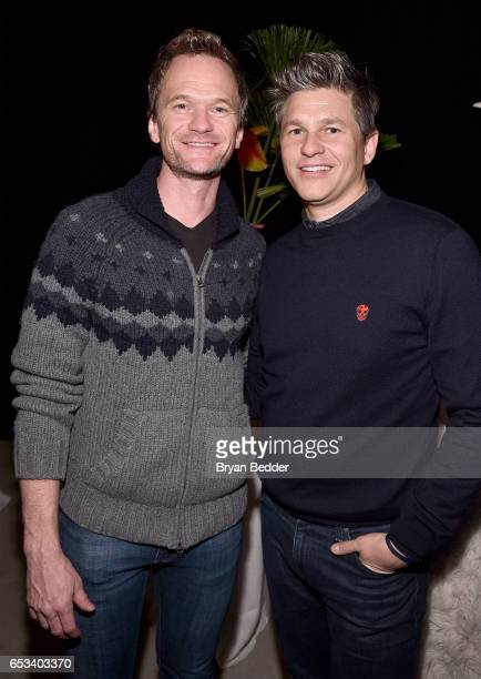 Actors Neil Patrick Harris and David Burtka attend Experience Harlem hosted by Airbnb and Ghetto Gastro on March 14 2017 in New York City