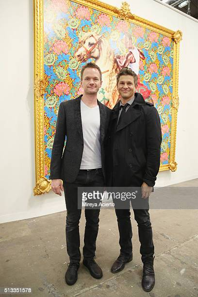 Actors Neil Patrick Harris and David Burtka attend the 2016 Armory Show and Armory Arts Week at Piers 92 and 94 on March 2 2016 in New York City