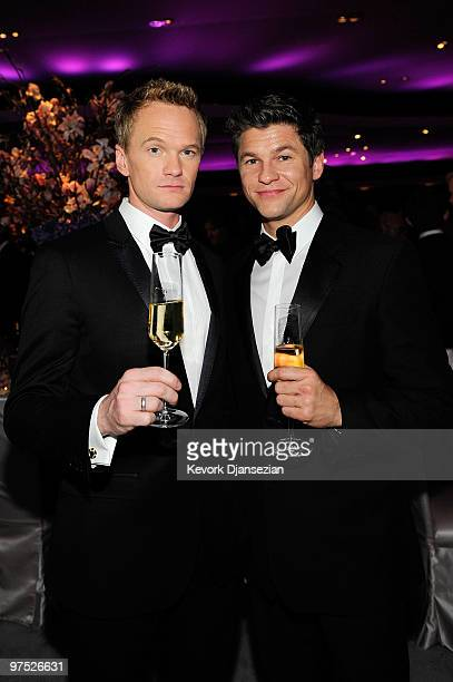 Actors Neil Patrick Harris and David Burtka attend the 82nd Annual Academy Awards Governor's Ball held at Kodak Theatre on March 7 2010 in Hollywood...