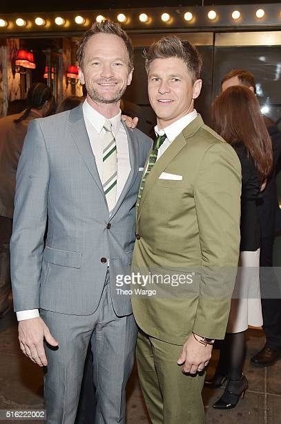 Actors Neil Patrick Harris and David Burtka attend the opening night of 'She Loves Me' on Broadway at Studio 54 on March 17 2016 in New York City