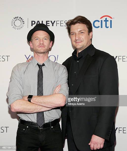 Actors Neil Patrick Harris and Nathan Fillion attend the 'Dr Horrible's SingAlong Blog Reunion' during the PaleyFest New York 2015 at The Paley...