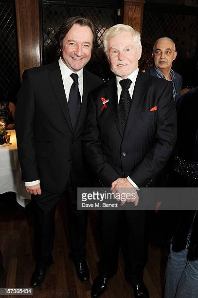 Actors Neil Pearson and Sir Derek Jacobi working as Maitre d' attend One Night Only at The Ivy featuring 30 stage and screen actors working as staff...