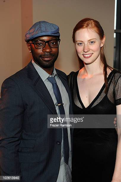 Actors Nelsan Ellis and Deborah Ann Woll arrives at the Nelsan Ellis Hosts HBO's 'True Blood' Crew Appreciation Party held at the The Carlyle...