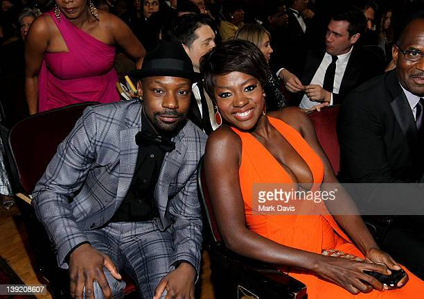 Actors Nelsan Ellis and Viola Davis attend the 43rd NAACP Image Awards held at The Shrine Auditorium on February 17 2012 in Los Angeles California