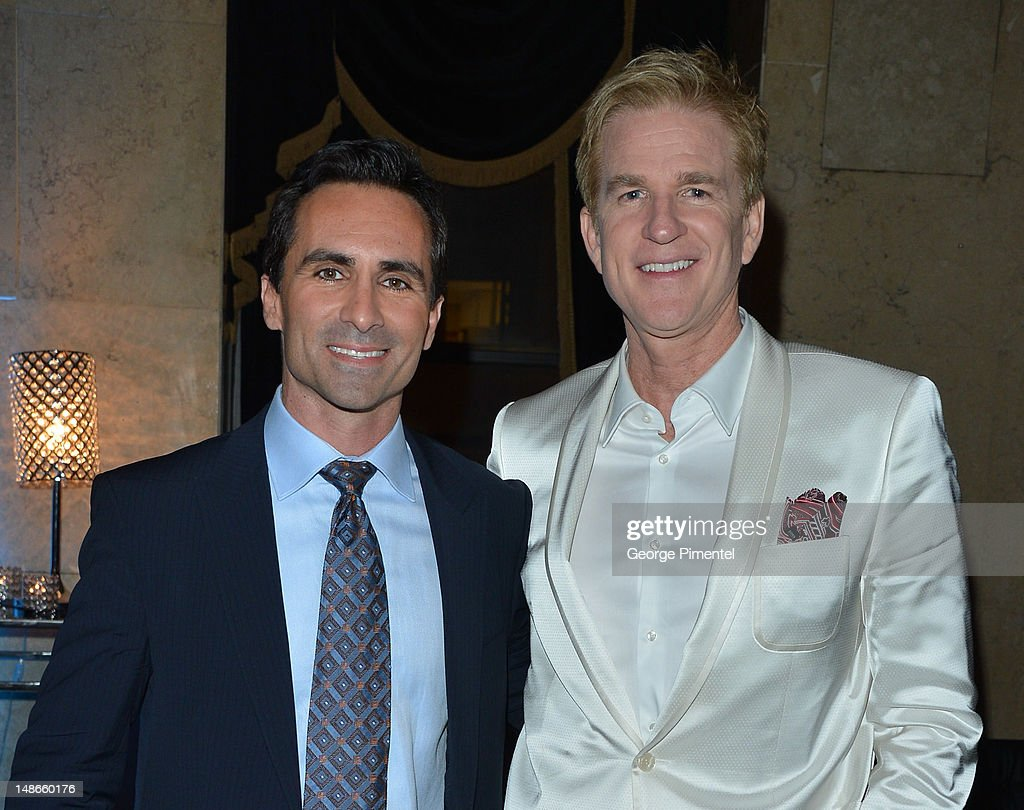 Actors <a gi-track='captionPersonalityLinkClicked' href=/galleries/search?phrase=Nestor+Carbonell&family=editorial&specificpeople=683517 ng-click='$event.stopPropagation()'>Nestor Carbonell</a> and <a gi-track='captionPersonalityLinkClicked' href=/galleries/search?phrase=Matthew+Modine&family=editorial&specificpeople=211363 ng-click='$event.stopPropagation()'>Matthew Modine</a> attend the after party of The Canadian Premiere of 'The Dark Knight Rises' at One King West on July 18, 2012 in Toronto, Canada.